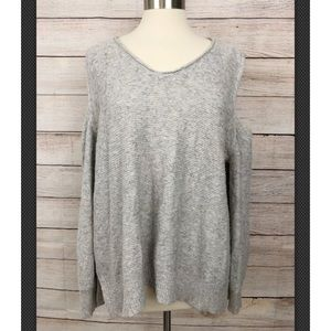 Vince Camuto XL Gray Cold Shoulder Sweater